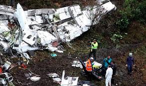 Avion Chapecoense estrellado