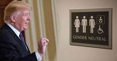 Trump anula norma baños transgénero