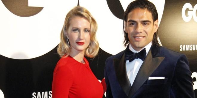 Falcao y su esposa Lorelei