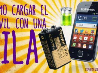 Cómo cargar el móvil o celular con una pila web